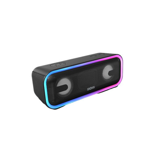 D10 SoundBox Pro+ Wireless Speaker with 24W Impressive Sound, Booming Bass, Wireless Stereo Pairing, Mixed Colors Lights, IPX5 Waterproof, 15 Hrs Batt
